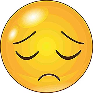 kleberio Aufkleber Emoji Smiley Sticker Auto Motorrad Carravan wetterfest 20 x 20 cm