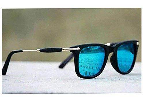 Sunglasses (Gift item) Men\'s & women\'s Premium Quality Blue Mercury Wayfarer Square UV400 Protection