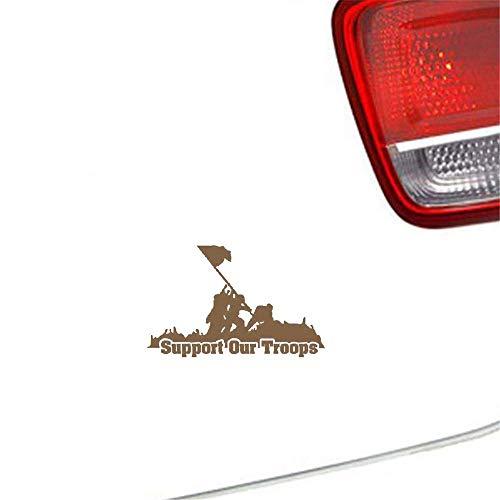 Auto Aufkleber Stützen Sie unsere Truppen-Aufkleber-Militärgewehr-Truppen-Amerika-Auto-Aufkleber 13.7Cmx8.9Cm für Auto-Laptop-Fenster-Aufkleber -
