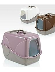 Maison de toilette pour chat avec couvercle et filtre 54x 38,5x 38cm