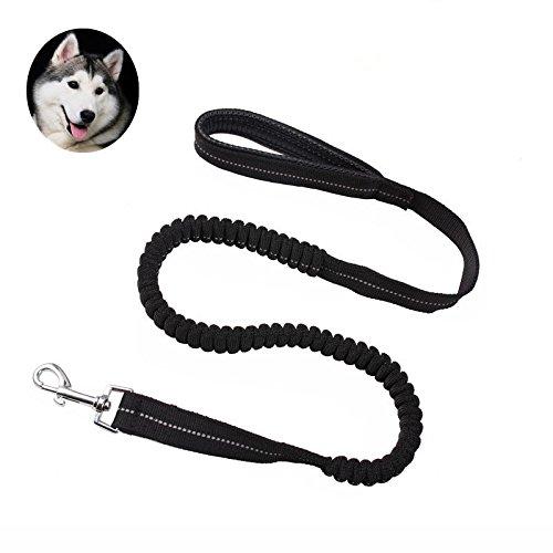 Bild: Premium Hunde Leine5ivepets Leine mit elastischer Ruckdämpfung und soften Neopren Handschlaufen 120cmfür hundeschwarz