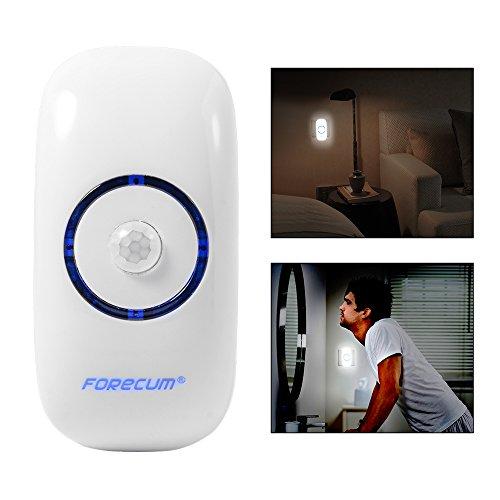 Forecum S8000 IR LED Sicherheit infrarot Sensor Bewegung Detektor Wireless PIR Wei? 8000K-10000K AH159