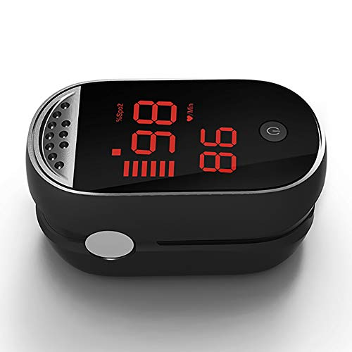 SUN RNPP Blutzuckermessgeräte Oximeter fingerspitzen-ledpi-alarmfunktion oximeter-herzfrequenzmessgerät fda-oximeter-sättigung dual Screen Display Conversion,Black