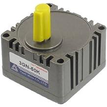 50:1 10 mm eje 8 mm Base del orificio cuadrado cabezal de engranajes juego de reductores de Control de velocidad
