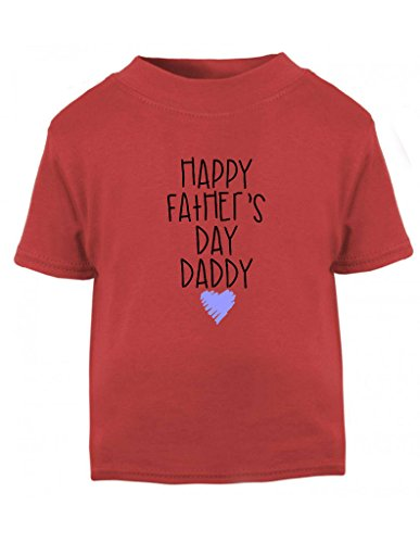 Happy Father's Day Daddy Blue Scribble Heart Cute Toddler T Shirt - Fathers Day Gift