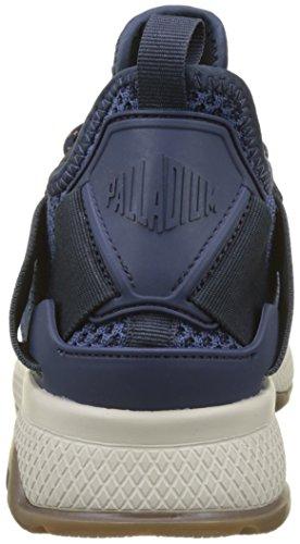 Palladium Axeon Lace, Baskets Homme Bleu (Ensign Blue/Total Eclipse M54)