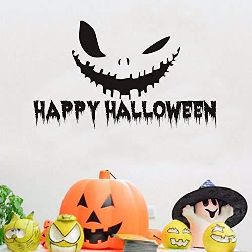 bis Lächeln Vinyl Wandaufkleber Abziehbilder Halloween Home Decorition Zubehör Wandtattoo Für Wandbild Schlafzimmer Tür 74x44 cm ()