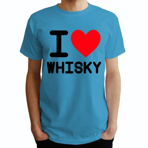 I love Whisky Herren T-Shirt Blau