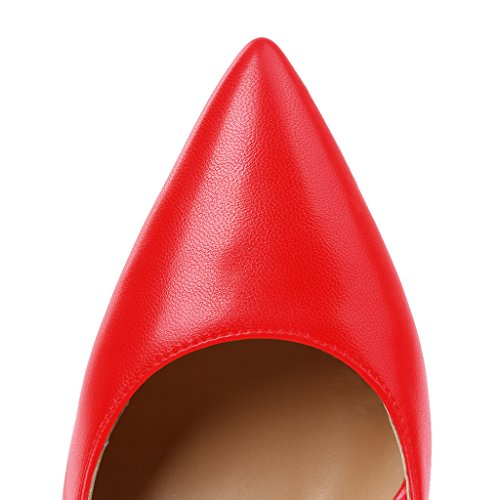 Guoar - Scarpe chiuse Donna (Rot Pu)