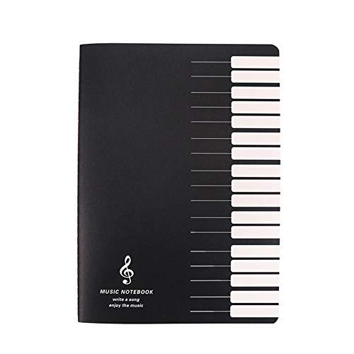 ZANTEC Universal Notenbuch 18 Blatt B5 für Klavier Violine Trompete etc.