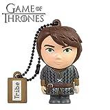 Tribe Game of Thrones (Juego de Tronos) Aria - Memoria USB 2.0 de 16 GB Pendrive Flash Drive de Goma con Llavero, Color Gris