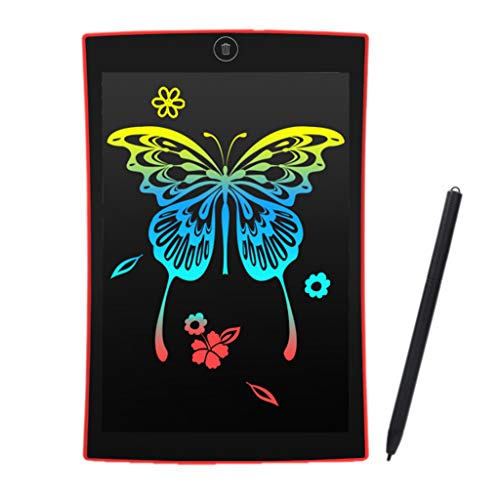 he TM, 9,5-Zoll-Lcd-Schreibblock Digital Drawing Tablet Electronic Graphic Board(Rot) ()