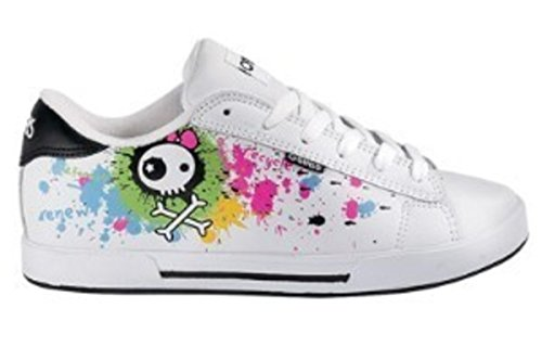 Osiris Skateboard Schuhe Serve Girls White/Becky Bones/Splatter/Multi, ()
