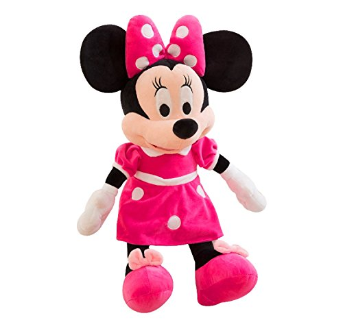 Wonderland Toys Kid's Plush Disney Character Minnie Mouse Soft Toy (Pink, BB07)