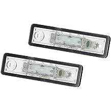 ECD Germany 2x Luces indicadoras LED para placas de matrícula Blanco xenón 6000K 2835SMD ...