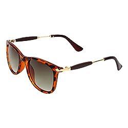 Zyaden Brown Rectangular Unisex Sunglasses 119