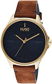 Hugo Boss Men's Blue Dial Brown Leather Watch - 153