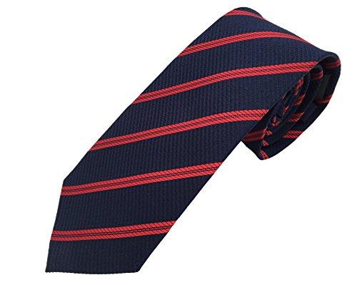 Krawatte blau rot gestreift, 100% Seide, handgefertigt, sehr edel und elegant. Wunderschöne Struktur, Design D286-10 Pietro Baldini