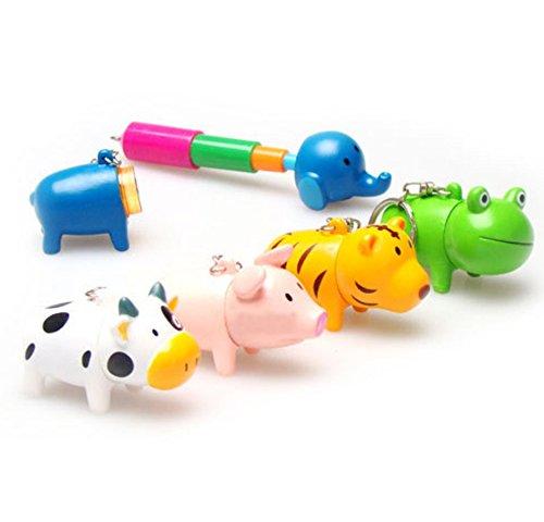 Speedmar Kreatives Geschenk, Heimzubehör, tragbarer Mini-Cartoon-Stift Anhänger Tiere, einziehbarer Kugelschreiber, Schlüsselanhänger für Kinder, Geschenk (zufällig)