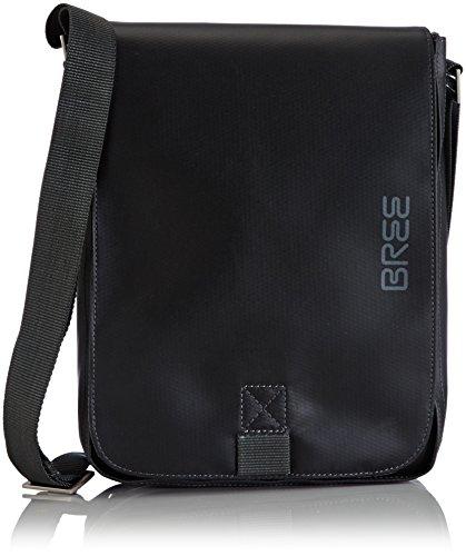 BREE Punch 52, black, shoulder bag S 83900052 Unisex-Erwachsene Schultertaschen 28x22x6 cm (B x H x T), Schwarz (black 900)
