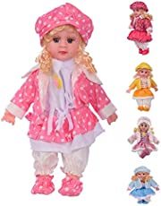 Mixen Soft Girl Singing Songs Princess Good Looking Musical Baby Doll Toy for Girls ( Assorted Dress Color )