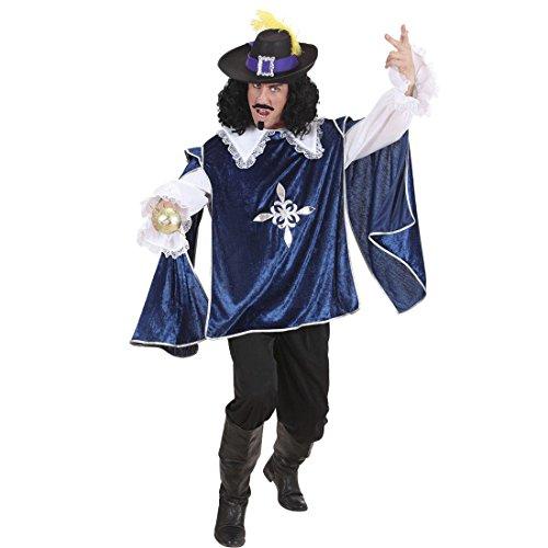 sketierkostüm blau L 52 Musketiere Hemd und Überwurf Ritterkostüm Renaissance Königlicher Ritter Mittelalterkostüm Mittelalter Larp Umhang Karnevalskostüme Herren (3 Musketiere Kostüme Erwachsene)