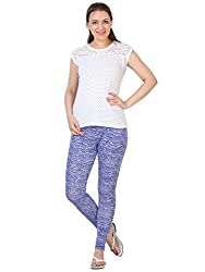 27Ashwood Womens Printed Legging leggings for womens,women leggings ankle length,leggings for girls,(PL2094_Dark Blue Printed Legging_Medium)