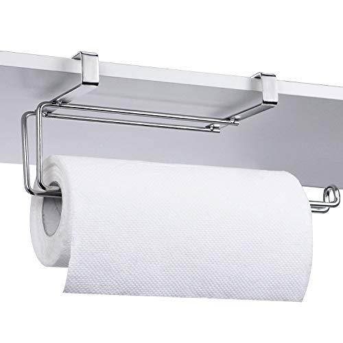 (HULISEN Küchenrollenhalter, über dem Schrank, Edelstahl Handtuchhalter, unter dem Regal Toilettenpapier-Ablage, Style 2)