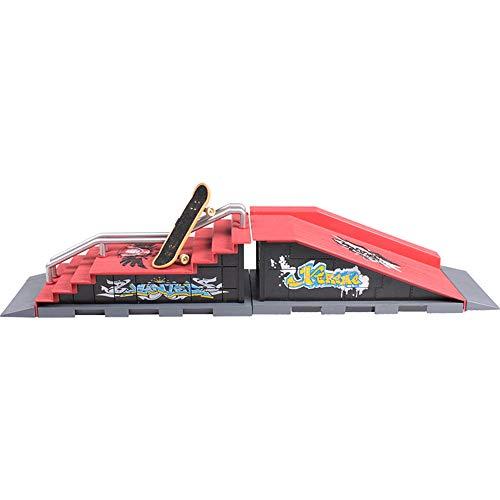 Vektenxi Finger-Skateboard-Mini-Skateboard mit Griffbrett-Rampen-Satz-Griffbrett-Rampe und Zubehör für Kinder Spielen Bildungs-Spielzeug