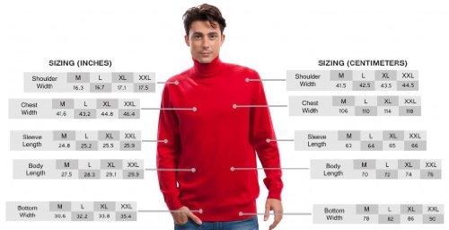 Rollkragenpullover Herren - 100% Kaschmir - von Citizen Cashmere Rot