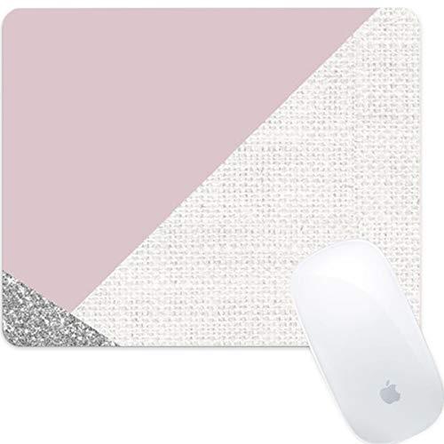 Weneth Rechteckig Mauspad Cooles Gaming Mousepad rutschfest Mausunterlage Gummi Ränder Mauspad für Laptop & Reise-Splitter Glitter Marmor