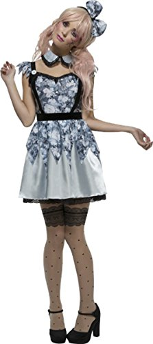 Damen Sexy Fancy Party Fever Collection Outfit Broken Puppe Annie Kostüm blau, Blau