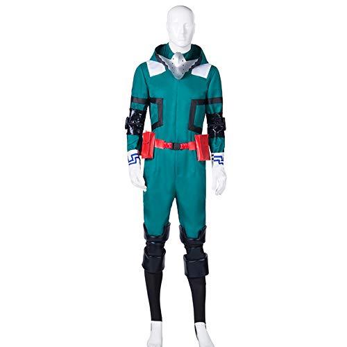 Vokaer Herrenanzug für My Hero Academia Akademia Izuku Midoriya Cosplay Kostüm Deku Kampfoutfit,Costume,S