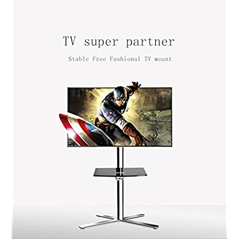 Fashional TV Móvil Planta carros para LCD LED Plasma pantallas planas Soporte con ajuste de 32'' - 65'', Max 30KG Capacidad de