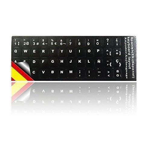 Ledeli Tastaturaufkleber Tastatur Aufkleber Keyboard Sticker Tastatur-Aufkleber für PC, Laptop, Notebook, Computer-Tastaturen (Spanisch Layout)