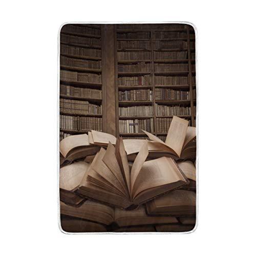 DOSHINE Doppel-Decke, zum Öffnen, Bücherregal, Vintage, weich, leicht, wärmend, 152,4 x 228,6 cm, für Sofa, Bett, Stuhl, Büro -