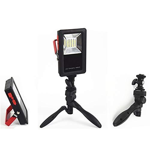 Tragbare 30W LED Fluter, 1000 Lumen Camping Lampe, 3 Modes Außenstrahler mit Ständer für Arbeiten, Garten, Garage, Party, Autoreparatur, Schwarz,2Pack