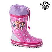 La pioggia e l'inverno stanno arrivando e non c'è niente di meglio che essere preparati con i famosi stivali da pioggia rosa PAW Patrol!Realizzati in gomma Cordoncino regolabile Includono solette all'interno