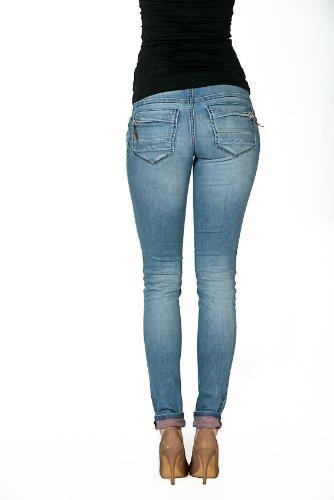 Pockets love2Wait sophia zip-inside rED stone wash jeans c141005 umstandsmode - Stone Wash