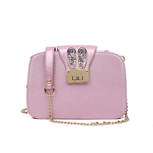 YZJLQML Damen Tasche Damenbekleidung Mode Dame umhängetasche Casual Wilde Schulter diagonal Tasche Handtasche @ Rose_Gold