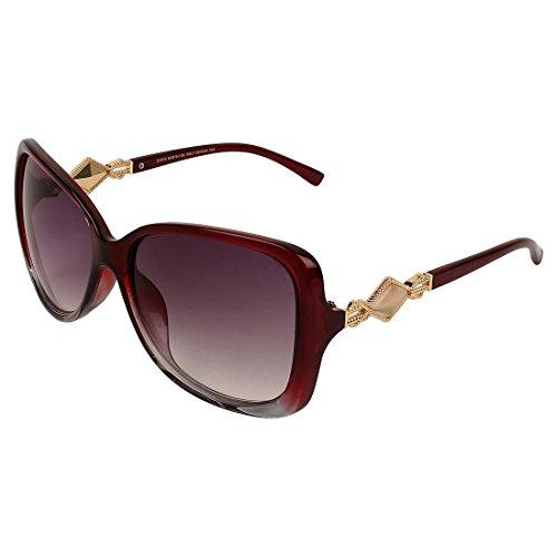 Abner Red Oversized Sunglasses for Women 377