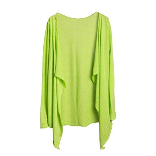 acke Langärmliger Sonnenschutz Cardigan Outwear Frontöffnung Asymmetrischer Hem Shirt Tops Bluse (K) (Plus Größe Gehen Gehen Stiefel)