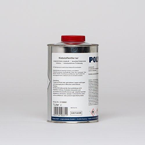 Polytop Klebstoffentferner Etikettenentferner Klebstoffresteentferner Teerentferner 1 L