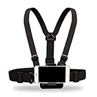 Supkeyer Cellphone Selfie Chest Mount Chest Harness Strap with Cell Phone Clip Compatible with iPhone Xs XR Max X 8 7 6 / Gopro Hero 7 6 5 4 / Sony Action Camera
