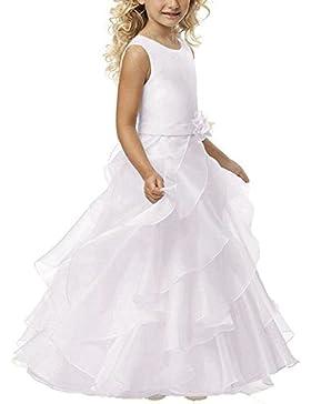 YoYodress Vestidos de primera comunión para las muchachas Vestido largo de la muchacha de flor para las bodas...