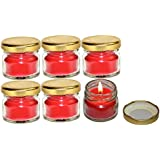 Pure Source India Scented Mini Jar Candle 30 Gram Each Set Of 6 Pcs Rose Fragrance