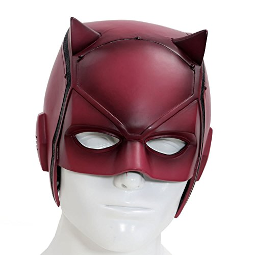Halloween Maske Rote Schwarz PVC Helm Cosplay Kostüm Erwachsene Costume Prop Murdock ()