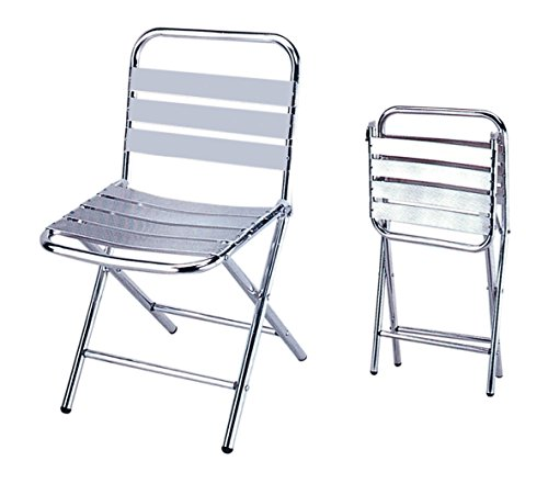 Sedie sedia pieghevole in alluminio leggera cm 43x59x79h