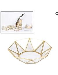 Surenhap - Bandeja Rectangular con Espejo de Cristal para Maquillaje, Bandeja para postres, Collar, Placa de Joyas, Expositor para la casa, Cocina o decoración