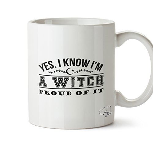 KNOW I 'M A WITCH. Stolz auf ES. 283,5 Tasse, keramik, weiß, One Size (10oz) (White Witch Cosplay)